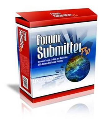 Product picture Forum Submitter Pro with Master Resale Rights